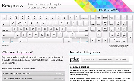 Keypress超强大,捕获键盘输入的 JavaScript 库