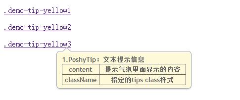 PoshyTip jQuery 文本提示插件的使用