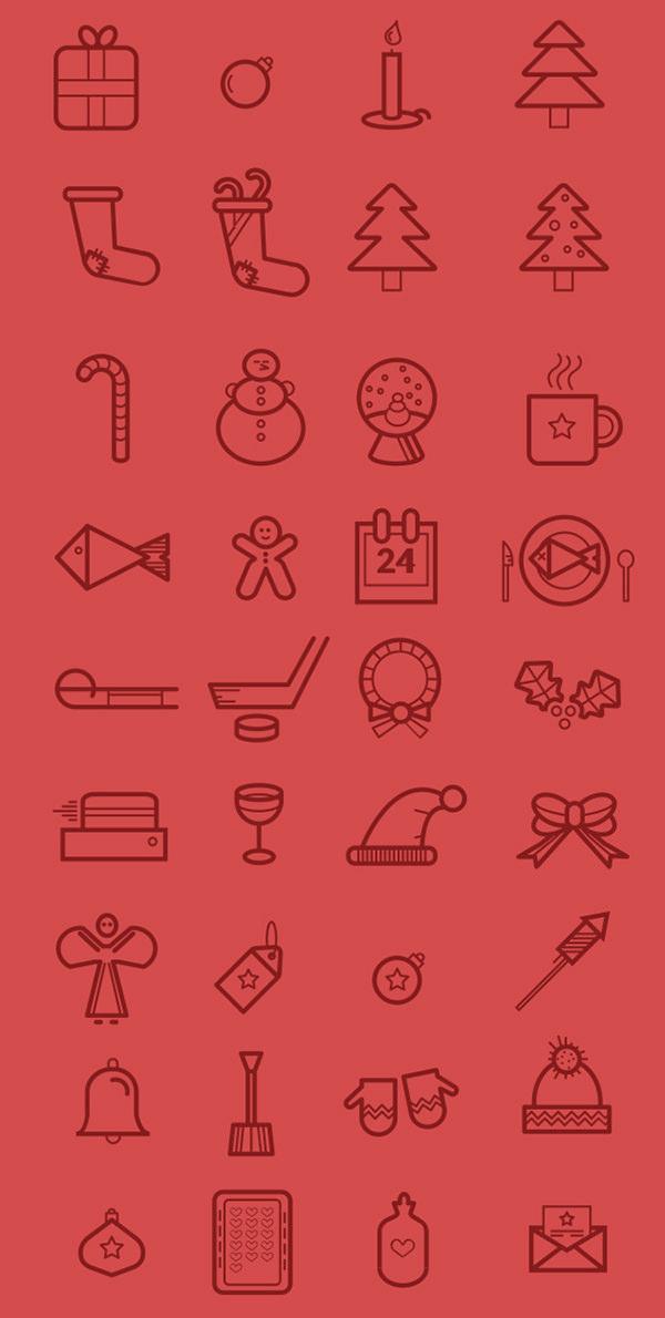 26个免费高质量圣诞节图标集