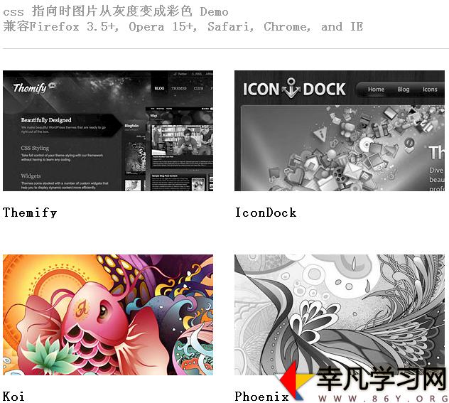 让网站的图片变成灰色效果兼容所有主浏览器