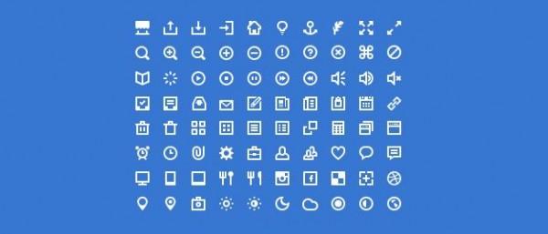 10款最受欢迎Web设计人员图标集免费下载