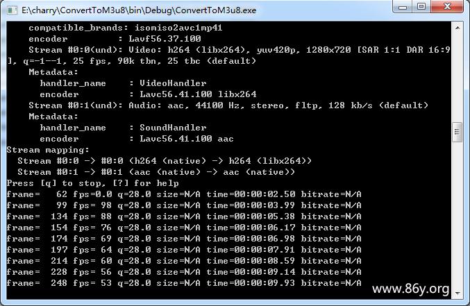 .net 视频转换成m3u8列表+缩略图(附源代码下载)
